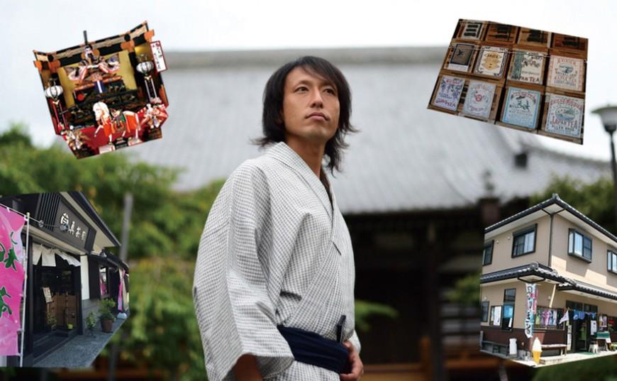 石上亮と茶町散策、茶商を訪ねる 志太天神・甲冑談義と闘茶に挑戦