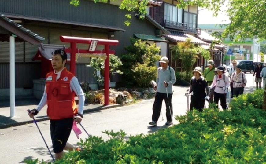 蓮華寺池公園で、エクササイズ!!ノルディックウォーキング体験